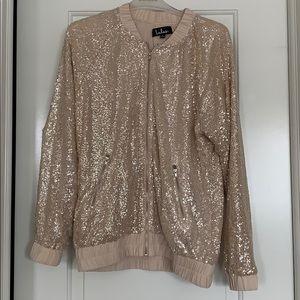 Lulu's Gold Bomber Jacket